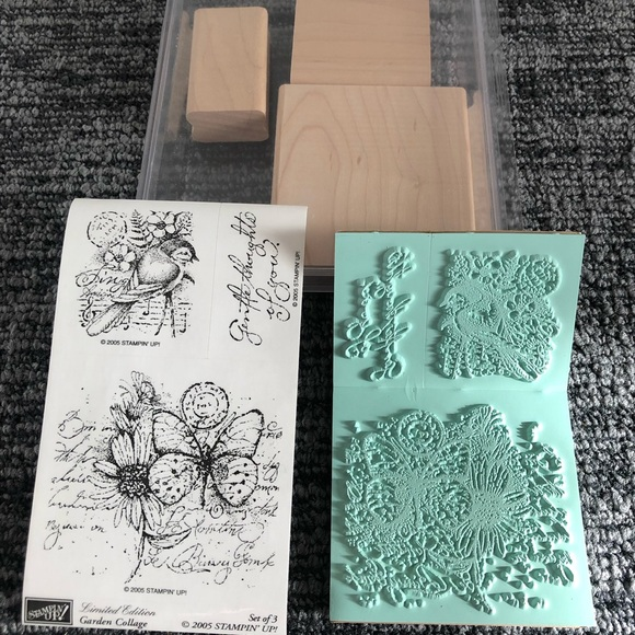 Set of 3 BRAND NEW Stampin Up! Nature Stamps